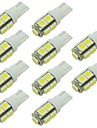 2w led-lamppu t10 w5w 9 smd 5050 dc 12 - 24v valkoinen lämmin valkoinen rv lukituksen pysäköinti valaisin (10 kpl)