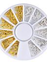 1 pcs Nail Jewelry Erityisrakenne kynsitaide Manikyyri Pedikyyri Rento / arki metallinen