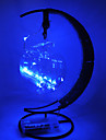 HKV 1pc LED Night Light Warm White RGB Violet Blue AA Batteries Powered Decoration Safety Creative