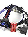 ヘッドランプ LED LED エミッタ 5000 lm 1 照明モード プロフェッショナル 耐久性 ライトウェイト キャンプ / ハイキング / ケイビング 日常使用 ダイビング / ボーティング ブルー