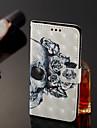 Etui Käyttötarkoitus Samsung Galaxy J8 / J7 Duo Lomapkko / Korttikotelo / Tuella Suojakuori Pääkallot Kova PU-nahka varten J8 / J7 Duo / J6