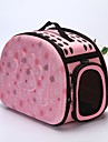 Dogs Rabbits Cats Cages Carrier & Travel Backpack Shoulder Messenger Bag Pet Carrier Waterproof Portable Camping & Hiking Flower / Floral Fashion Lolita Gray Pink Black