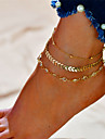 Layered Anklet - Alphabet Shape Fashion, Multi Layer Gold / Silver For Gift Daily Women\'s