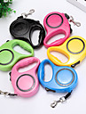 Perros Correas Portatil Ajustable / Retractable Tamano Ajustable Bloques Plasticos Nailon Rojo Verde Azul