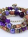 Women\'s Layered Strand Bracelet Wrap Bracelet - Resin Bohemian, European, Fashion Bracelet Purple For Daily