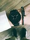 Муж. Нарядные часы Наручные часы Кварцевый 30 m Новый дизайн Cool Кожа Группа Аналоговый Винтаж На каждый день Черный / Белый - Белый Черный Черный / Белый Один год Срок службы батареи / SSUO 377