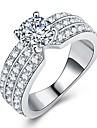 Női Stílusos Gyűrű Jegygyűrű - Platina bevonat, Hamis gyémánt Eyes, Tűzijáték Luxus, Egyedi, Romantikus 5 / 6 / 7 / 8 / 9 Ezüst Kompatibilitás Eljegyzés Ajándék
