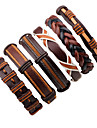 Men\'s Leather Bracelet - Leather Fashion Bracelet Jewelry Brown For Stage Street