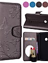 Etui Til Xiaomi Redmi Note 5 Pro / Redmi 5 Plus Lommebok / Kortholder / med stativ Heldekkende etui Sommerfugl Hard PU Leather til Redmi Note 5A / Xiaomi Redmi Note 5 Pro / Xiaomi Redmi Note 4X