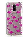 Custodia Per Samsung Galaxy A6+ (2018) / A6 (2018) Transparente / Fantasia / disegno Per retro Fenicottero Morbido TPU per A6 (2018) / A6+ (2018) / A3 (2017)