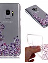 Huelle Fuer Samsung Galaxy S9 Plus / S9 IMD / Transparent / Muster Rueckseite Blume Weich TPU fuer S9 / S9 Plus / S8 Plus