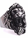 Men\'s Stylish Engraved Statement Ring Titanium Steel Steel Stainless Lion Statement Punk European Ring Jewelry Silver For Carnival Street 8 / 9 / 10 / 11 / 12