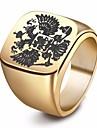 Heren Stijlvol Gegraveerd Ring Zegelring Roestvrij staal Eagle Stijlvol Europees Modieuze ringen Sieraden Goud / Zwart / Zilver Voor Straat Club 7 / 8 / 9 / 10 / 11