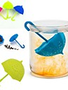 paraguas infusor de te infusor de te de silicona filtro de hojas sueltas colador
