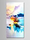 Hang-Dipinto ad olio Dipinta a mano - Astratto Paesaggi Modern Senza telaio interno / Tela arrotolata