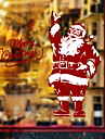 Window Film & Stickers Decoration Christmas Holiday PVC(PolyVinyl Chloride) Glossy / Smooth Sticker / Shop / Cafe