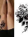 3 pcs Tetovací nálepky dočasné tetování Květinová řada / Romantická série Šetrný vůči životnímu prostředí / Nový design Tělesné Arts Tělo / paže / Hrudník / Deskové dočasné tetování