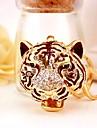 Tiger Keychain Gold Irregular, Animal Imitation Diamond, Alloy Diamond / Rhinestone Decorated Case, Fashion For Birthday / Gift