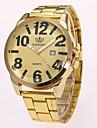 בגדי ריקוד גברים שעוני שמלה שעון יד קווארץ זהב עיצוב חדש שעונים יום יומיים אנלוגי קלסי יום יומי אופנתי - זהב שחור שנה אחת חיי סוללה