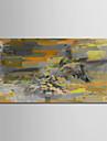 Hang-OElgemaelde Handgemalte - Abstrakt Modern Ohne Innenrahmen / Gerollte Leinwand