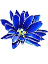 Women\'s Stylish Brooches Flower Ladies Stylish Classic Brooch Jewelry Blue For Daily