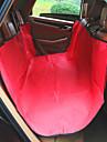 Perro Cobertor de Asiento Para Coche Mascotas Colchonetas y Cojines Un Color Impermeable Portatil Plegable Rojo Azul Raya Para mascotas
