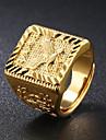 Muškarci Sa stilom Pečatni prsten - 18K Gold Orao Moda Jewelry Zlato Za Dnevno Večer stranka Prilagodljive