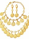Γυναικεία Σύνδεσμος / Αλυσίδα Κοσμήματα Σετ Επιμεταλλωμένο με Πλατίνα, Επιχρυσωμένο Πράσινο του τριφυλλιού κυρίες, Κλασσικό, Υπερβολή, Μοντέρνα Περιλαμβάνω Κρεμαστό Σκουλαρίκια / βραχιόλι / Cercei