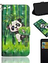Etui Til Apple iPhone XS / iPhone XS Max Mønster Fuldt etui Panda Hårdt PU Læder for iPhone XS / iPhone XR / iPhone XS Max