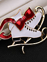 Women\'s AAA Cubic Zirconia Classic Brooches - Santa Suits, Shoe Classic, Cartoon, Cute Brooch White For Christmas / Daily