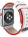 스테인레스 스틸 시계 밴드 견장 용 Apple Watch Series 3 / 2 / 1 블랙 / 레드 23cm / 9 인치 2.1cm / 0.83 인치