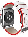 Rozsdamentes acél Nézd Band Szíj mert Apple Watch Series 3 / 2 / 1 Fekete / Piros 23cm / 9 inch 2.1cm / 0.83 Hüvelyk