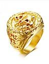 Heren Retro Gegraveerd ambachtsman Midi Ring Zegelring Titanium Staal Anker Modieus Dubai Modieuze ringen Sieraden Goud Voor Lahja Dagelijks 8 / 9 / 10 / 11 / 12