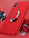 Кейс для Назначение Apple iPhone X / iPhone 8 Кольца-держатели / Матовое Кейс на заднюю панель Однотонный Мягкий ТПУ для iPhone X / iPhone 8 Pluss / iPhone 8
