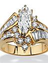 Γυναικεία Cubic Zirconia Πολυεπίπεδο Κομψό Μαρκησία Δαχτυλίδι Ρητίνη Χαλκός Στρας Coroană κυρίες Στυλάτο Πολυτέλεια Κομψό Μοδάτο Δαχτυλίδι Κοσμήματα Χρυσό / Ασημί Για