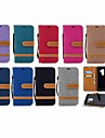 Coque Pour Samsung Galaxy S9 Plus / S8 Portefeuille / Porte Carte / Avec Support Coque Integrale Couleur Pleine Dur Textile pour S9 / S9 Plus / S8 Plus