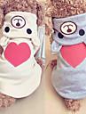 Chiens / Chats Pulls a capuche / Combinaison-pantalon Vetements pour Chien Coeur / Personnage Beige / Gris Tissu Costume Pour les animaux domestiques Femme One Piece
