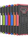 Coque Pour Samsung Galaxy Note 9 / Note 8 Antichoc / Avec Support Coque Carreau vernise / Armure Dur PC pour Note 9 / Note 8