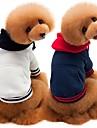 Chiens / Chats Sweatshirt Vetements pour Chien Couleur Pleine Blanc / Bleu de minuit / Gris Coton Costume Pour les animaux domestiques Homme Style Simple / Decontracte / Sport
