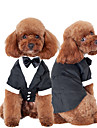 Cat Dog Tuxedo Dog Clothes Bowknot Black Cotton Costume For Pets Men\'s Cute Cosplay Wedding