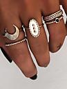Dame Retro Knoringe Ring Set Multifingerring - Harpiks, Legering MOON Damer, Vintage, Punk, Boheme Smykker Guld / Sølv Til Gave Daglig Gade Natklub Bar 8 5pcs