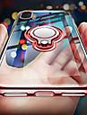 Кейс для Назначение Apple iPhone X / iPhone XS Покрытие / Кольца-держатели / Ультратонкий Кейс на заднюю панель Однотонный Мягкий ТПУ для iPhone XS / iPhone X / iPhone 8 Pluss