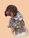 Chiens / Chats Impermeable Vetements pour Chien Couleur Pleine / simple Blanc / Fuchsia / Bleu PVC Costume Pour les animaux domestiques Unisexe Ordinaire / Etanche