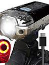 LED Sykkellykter Sett med oppladbare sykkellykter Frontlys til sykkel Baklys til sykkel Fjellsykling Sykling Vanntett Baerbar Enkel aa baere Oppladbart Batteri 1000 lm Oppladbar Naturlig Hvit Sykling -