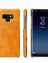 Fierre Shann ケース 用途 Samsung Galaxy Note 9 カードホルダー バックカバー ソリッド ハード 本革 のために Note 9