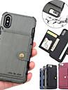 Кейс для Назначение Apple iPhone XR / iPhone XS Max Бумажник для карт / Магнитный Кейс на заднюю панель Однотонный Твердый Кожа PU для iPhone XS / iPhone XR / iPhone XS Max