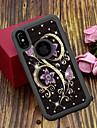 Case Kompatibilitás Apple iPhone XS / iPhone XS Max Áttetsző / Minta Fekete tok Virág Kemény TPU / PC mert iPhone XS / iPhone XR / iPhone XS Max