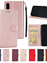 Etui Til Apple iPhone XS / iPhone XS Max Lommebok / Kortholder / med stativ Heldekkende etui Ensfarget Hard PU Leather til iPhone XS / iPhone XR / iPhone XS Max