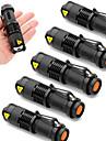 SK68 Latarki LED LED Cree® XR-E Q5 1 Emitery 2000 lm 3 tryb oświetlenia Powiększenie Wodoodporny Regulacja promienia Kemping / turystyka / eksploracja jaskiń Do użytku codziennego Policja / wojsko 6