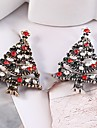 Women\'s Hollow Out Brooches - Rhinestone Christmas Tree Ladies, Stylish, Classic Brooch Jewelry Gold / Silver For Christmas